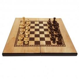 صفحه شطرنج و تخته نرد طرح گردو مدل ستاره 2