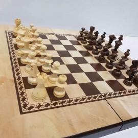 صفحه شطرنج و تخته نرد گردو مدل ستاره 2