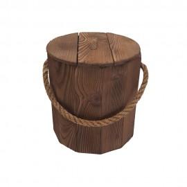 سطل زباله چوبی بزرگ