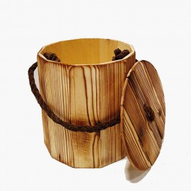 سطل زباله چوبی
