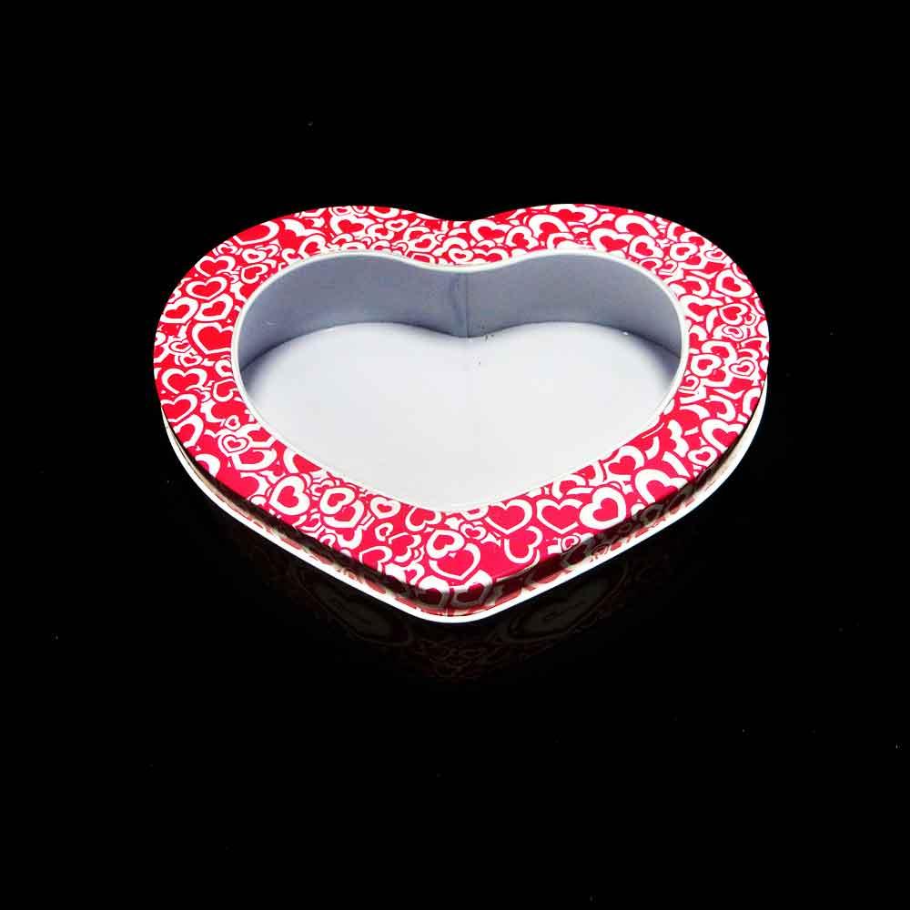 جعبه فلزی قلب درب طلقی