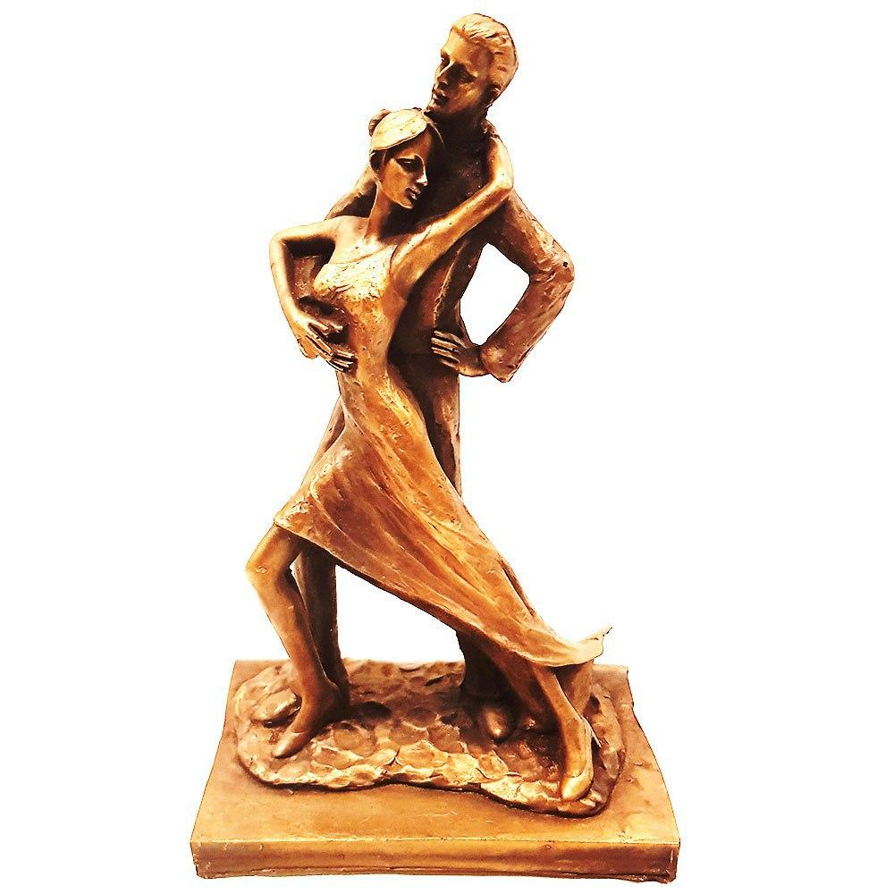 مجسمه رقاصه رنگ برنز کد 1