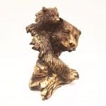 مجسمه خرس با بچه