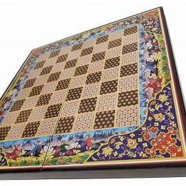 صفحه شطرنج و تخته نرد 50طرح چوگان آبی 2