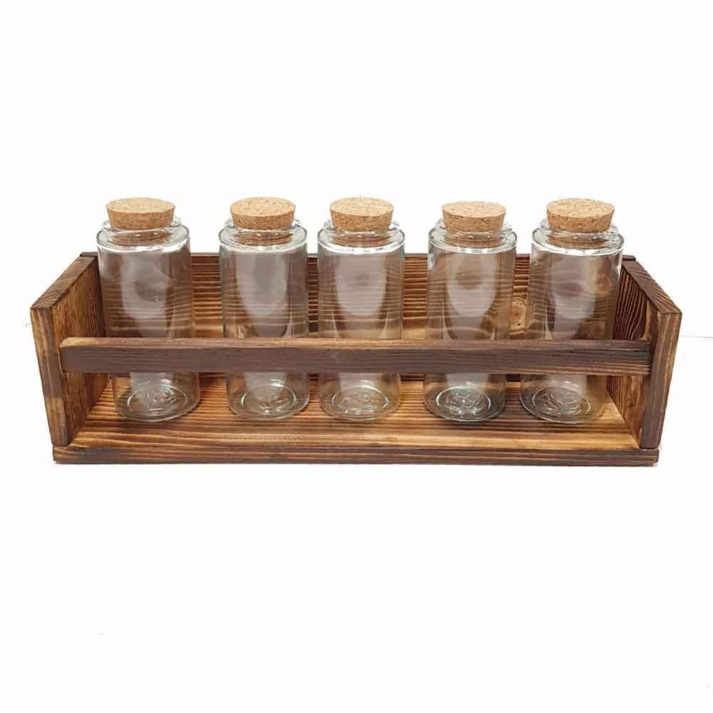 باکس و 5 عدد بطری استوانه15 سانتی