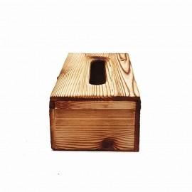 جا دستمال کاغذی چوبی 300 برگ چفتدار