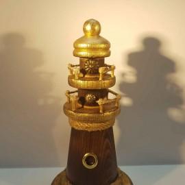 فانوس دریایی چوبی کوچک رنگ چوب لوکه