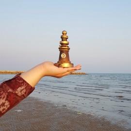 فانوس دریایی چوبی مینی رنگ چوب لوکه