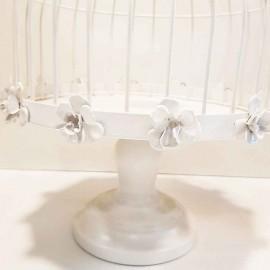 گلدان قفس بزرگ سفید