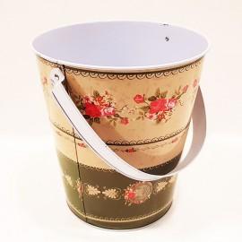 سطل فلزی دسته دار طرح 2