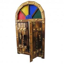درب سنتی آینه دار بزرگ