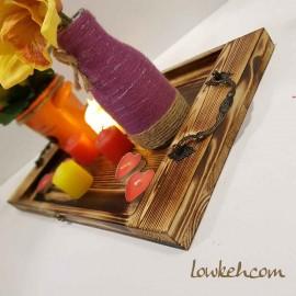 سینی چوبی نوستالژی رنگ چوب